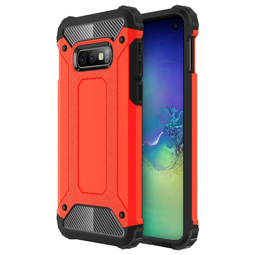 Military Defender Shockproof Case for Samsung Galaxy S10e - Red